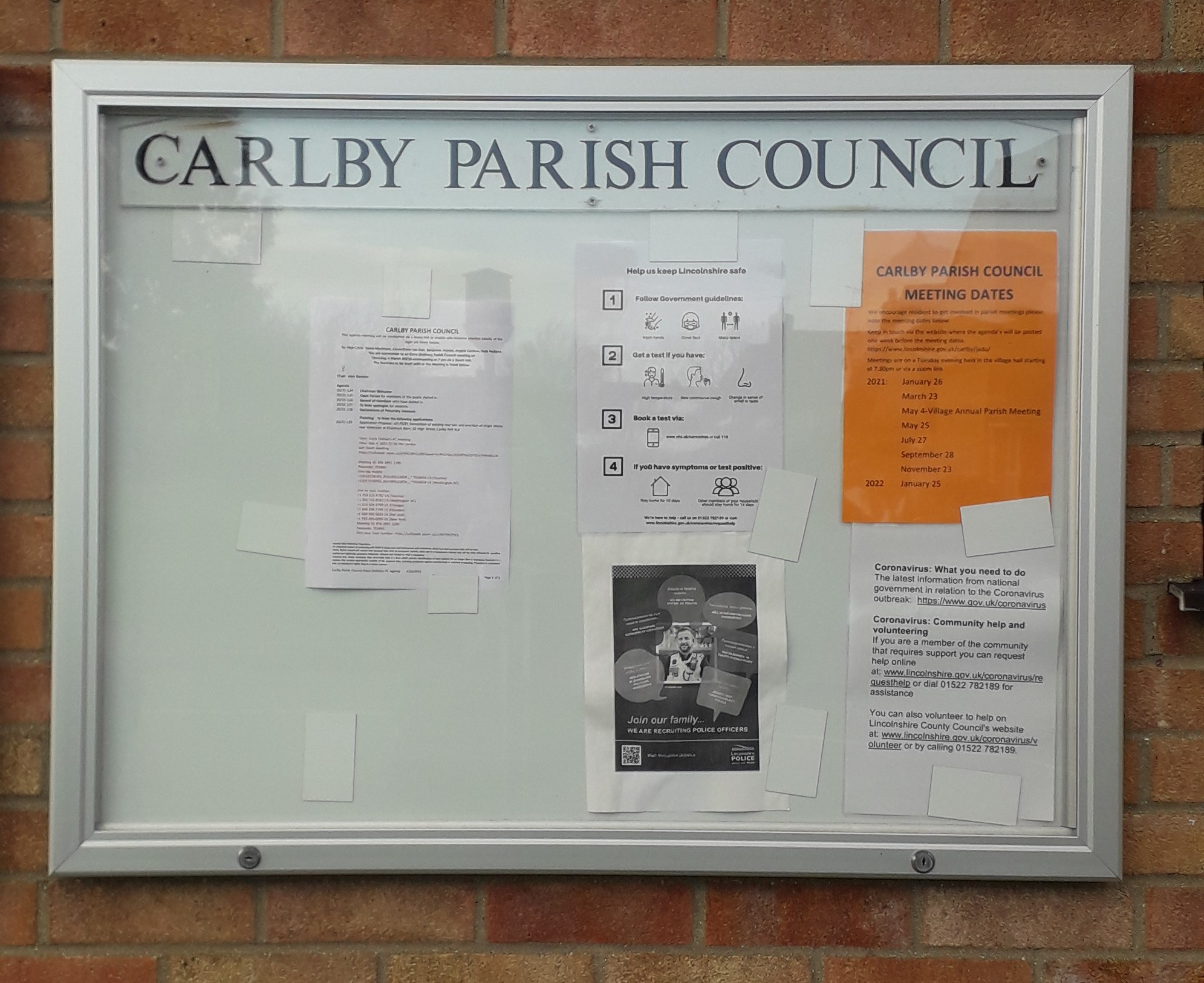 picture of noticeboard